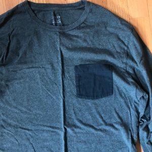 J. Crew Factory Shirts - Long Sleeve Pocket Tee